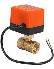 Chenbz Motorkogelklep, G3 / 4 DN20 AC220V Gemotoriseerde Brass Ball Valve 2-Way Elektrische Valve 3-Wire 1-punts controle for verwarming zonneboiler
