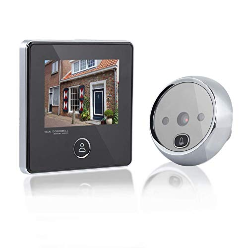 Visor de puertas Peephole Video Timbre de la puerta Visor de mirillas Digital Smart Vision Monitor con 3MP, gran angular de...