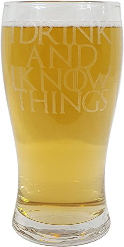 "Derwent Laser Craft 0 ""I Drink and I Know Things"", inspiriert von Game of Thrones, glas"