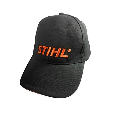 Stihl Golfmütze, Base Cap, Baseball Cap, Schwarz, Orange, 100% Baumwolle