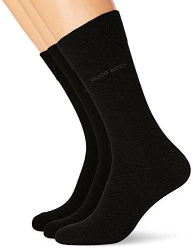 BOSS Threepack RS SP Calcetines, Negro (Black 001), 43/46 (Pack de 3) para Hombre