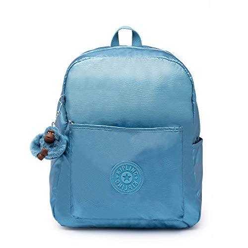 Mochila Kipling Bennett Azul Metálica Pequena - Azul