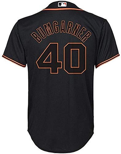 Madison Bumgarner San Francisco Giants MLB Majestic Boys Youth 8-20 Black Alternate Cool Base Replica Jersey (Youth Large 14-16)