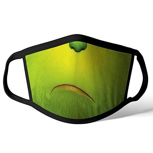 SNUZZ Mund Nasen Bedeckung, waschbar, wiederverwendbar 100% Polyester 2-lagig 1 Stück, Lagerung in Deutschland (Grinch)