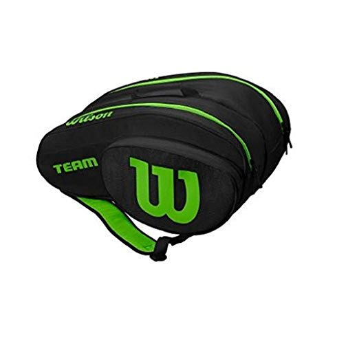 Wilson Padel, Racquetball Paddle Bag Unisex-Adult, Black Green, One Size