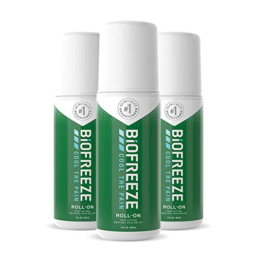 Biofreeze Pain Relief Roll-On, 3 oz. Roll-On, Fast Acting, Long Lasting, & Powerful Topical Pain...