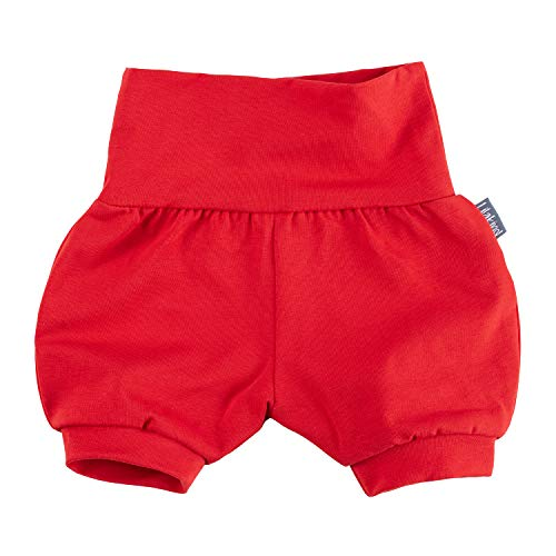 "Lilakind"" Baby Kinder Shorts Sommerhose Kurze Pumphose Baumwolle Uni Rot Gr. 86/92 - Made in Germany"