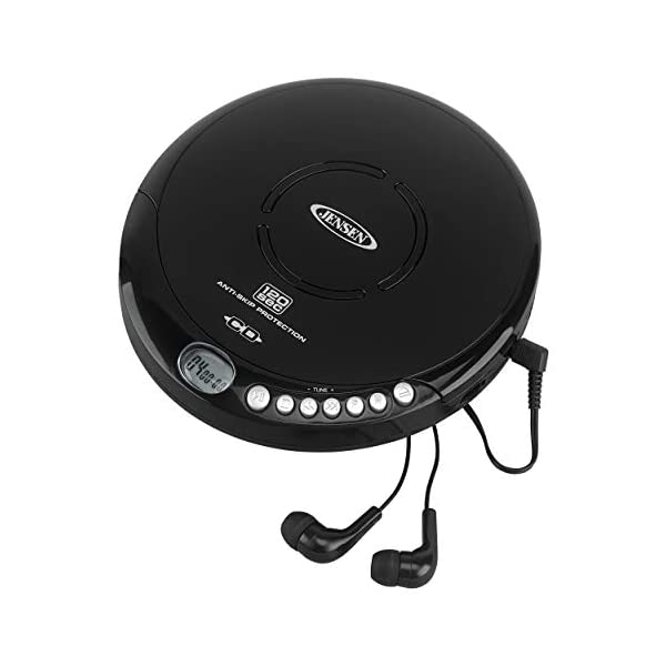 Portable CD-120BK Portable Personal CD Player Compact 120 SEC Anti-Skip CD Player – Lightweight & Shockproof Music Disc Player & FM Radio Pro-Earbuds for Kids & Adults 3
