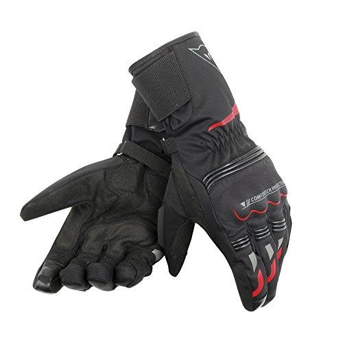 Dainese Tempest Unisex D-Dry Long Handschuhe, schwarz/rot, Größe XXL