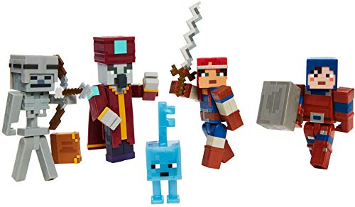 """Minecraft Dungeons 3.25"""" Desert Temple Battle Pack with Mini Figures, Suits of Armor and Weapons, Action, Adventure and Storytelling Play and Display Gift for Kids Age 6 and Older"""