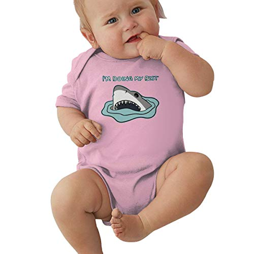 Mri-le2 Infant Short Sleeve Jumper Bodysuit I'm Doing My Best Baby Clothes Pink