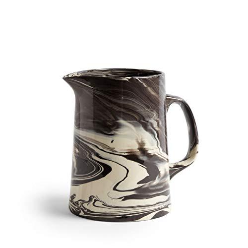 Marbled Krug, schwarz Porzellan bemaltes Steinzeug H 21cm Ø 16cm