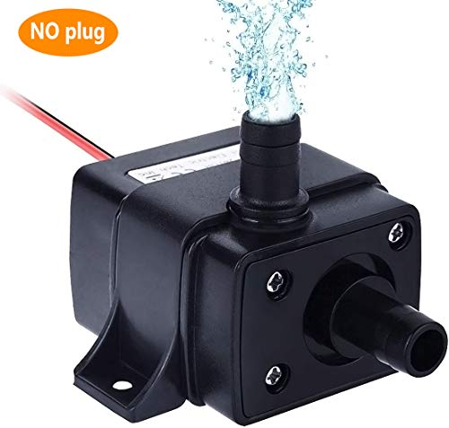 Winkeyes DC 12V Submersible Fountain Pump with 118' High Lift, 4.8W Mini Electric Brushless Fountain Water Pumps