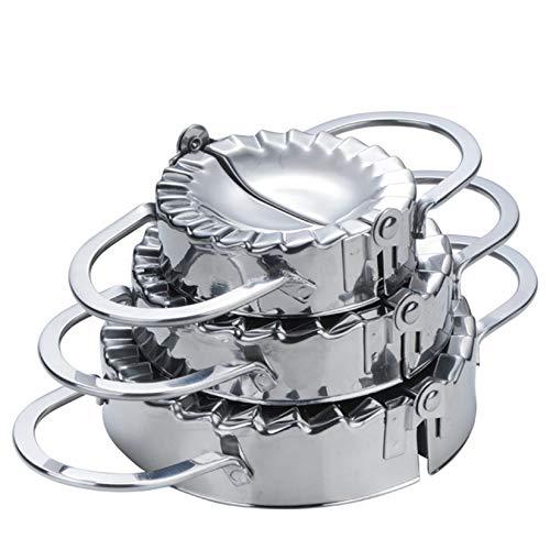 Hochwertigen Edelstahl Ravioli Ausstechformen, FantasyDay 3er Set Knödel-Hersteller Pierogie Ravioliformer Knödelform Tortellini Form- Ravioli-Stempel, Raviolischneider Gebäck-Werkzeug, Dumpling Maker