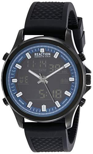 Kenneth Cole Reaction RK50552005 - Reloj de Pulsera para Hombre, Color Negro y Azul