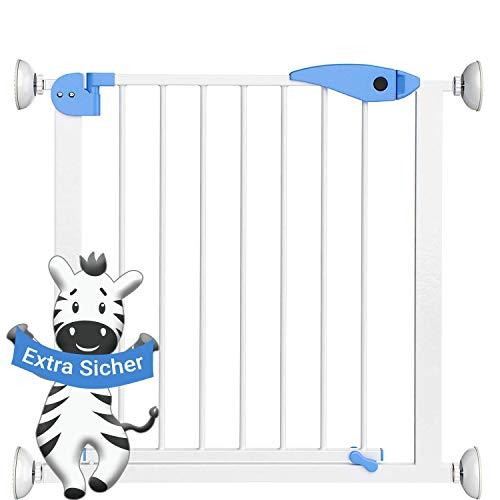 Türgitter und Treppenschutzgitter von Avantina® - Treppenschutzgitter ohne Bohren aus Metall - Verlängerbar - geeignet für Türrahmen von 74-85 cm
