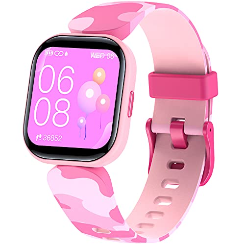 """KeBuLe Kids Fitness Tracker, IP68 Waterproof 1.4"""" Kid Smart Watch for Girls with Heart Rate Monitor, Sleep Monitor, 19 Sports Modes Activity Tracker Watch with GPS, Pedometer, Calorie, Gift for Kids"""