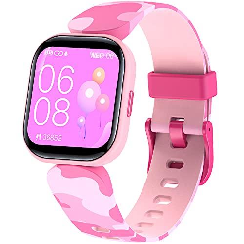 DIGEEHOT Pulsera Actividad Inteligente Reloj Inteligente para Niños Niñas, Impermeable IP68 con 19 Modos de Deporte Smartwatch con Podómetro Pulsómetros Monitor de Sueño Contador de Caloría (Rosa)