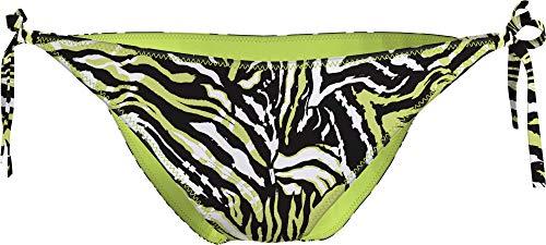 Calvin Klein String Side Tie-Print Bragas de Bikini, Enredado Tiger Direct Verde, XL para Mujer