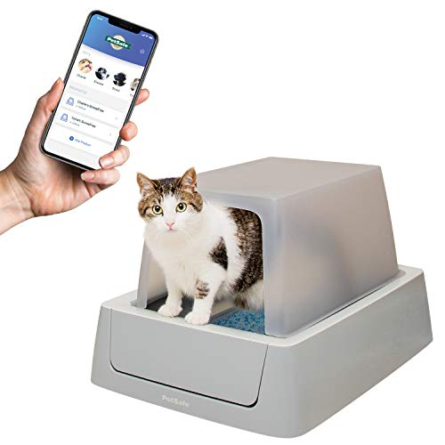 PetSafe ScoopFree Smart Covered Self Cleaning Cat Litter Box - Smart Phone...