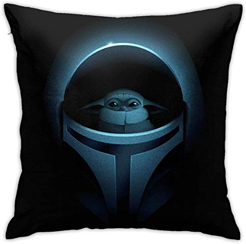 Coolopses Star W The Man-Dalorian Ba-by Yo-Da Pillow cover sofa decorative cushion cover 45 X 45 cm fashionable and comfortable zipper sofa bed chair