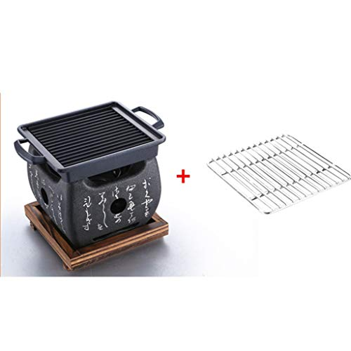 MH BBQ Grill - Mini Barbecue casa Carbone Piccolo Barbecue Stufa Mini Barbecue Attrezzi da Campo Barbecue in Carbonio Completo @ (Size : A)
