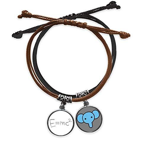 Armband für Relativität, Physikalische Wissenschaft, Taschenrechner, Handkette, Leder, Elefanten-Armband