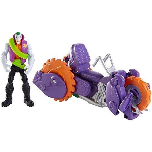 Batman – Le Joker et Moto Gorille – Véhicule 2 en 1 Transformable + 1 Figurine 10 cm