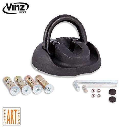 Vinz Wandanker/Bodenanker Art 4 | zur Sicherung für Motorrad Moped Fahrrad | auf- und einklappbar | mit Befestigungsmaterial