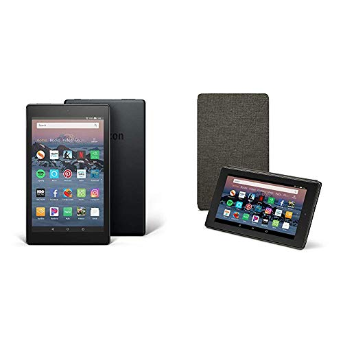 Product Image of the Fire HD 8 Tablet (16 GB, Black, With Special Offers) + Amazon Standing Case...