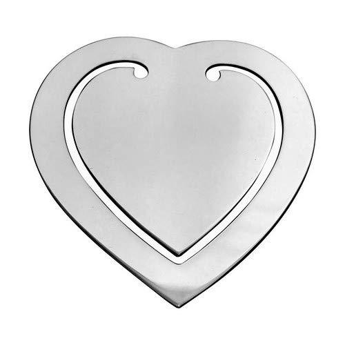Lesezeichen Geldklammer Herz 6,5x5,5cm Silber Plated versilbert in Top Verarbeitung