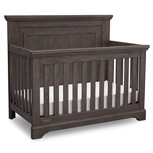 Simmons Kids' Paloma 4-in-1 Convertible Crib, Greenguard Gold Certified - Rustic Gray