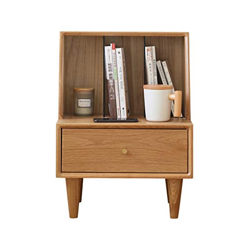 HXGL-nachtkastje, nachtkastje, kastje, locker, kastje, opbergbox, nachtkastje, eiken, slaapkamermeubels, Nordic massief hout, notenboom, kleur modieus, eenvoudig, modern