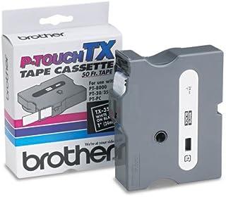 Brother P-Touch - TX Tape Cartridge for PT-8000, PT-PC, PT-30/35, 1w, White on Black TX-3551 (DMi EA