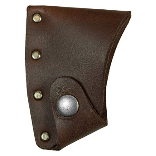 Hide & Drink, Leather Hatchet Blade Cover, Thick, Protective Axe Sheath, Lumberjack Essentials, Durable, Full Grain Leather, Handmade Includes 101 Year Warranty :: Bourbon Brown