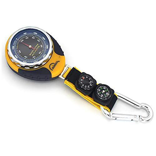 Boussole Baromètre Navigation Portable Haute Précision Multifonction Extérieure Survie Navigateur pour Forêt Camping Alpinisme Outil