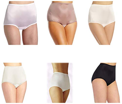 Vanity Fair Women's Perfectly Yours Ravissant Tailored Brief 15712, Star White/Walnut/Midnight Black/Fawn/Candleglow/Blushing Pink, X-Large/8