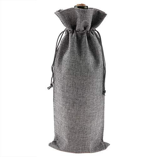 Bolsa con cordón de vino, 12 bolsas de regalo de tela de li