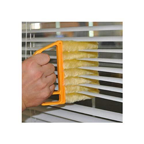WSZOK Cepillo de limpieza para persianas, limpiador de persianas de cocina, cepillo para aire acondicionado, herramienta de limpieza ligera, lavable
