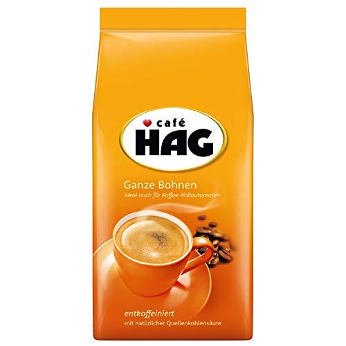 Café HAG Klassisch Mild Café Crema, 500g entkoffeinierter Bohnenkaffee, ganze Bohne, ideal für verschiedene Espressospezialitäten, für den professionellen Gebrauch