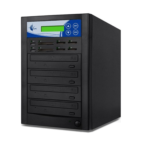 EZ Dupe Media Mirror Plus 3-Target DVD CD and Flash Memory Card Duplicator Copier MMP03, Multimedia Flash to Disc and Disc to Flash