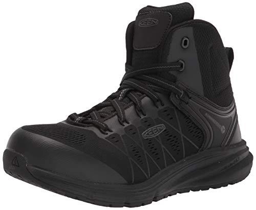 KEEN Utility mens Vista Energy Mid Composite Toe Work Construction Shoe, Black/Raven, 9.5 Wide US