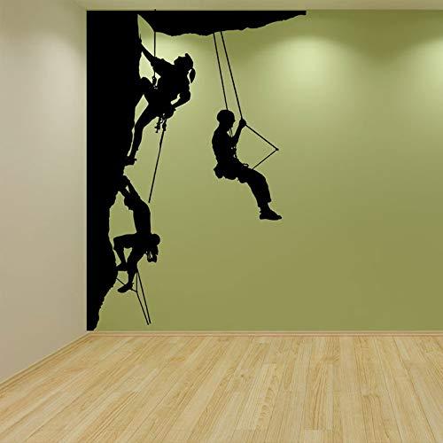 Pegatina de pared de escalada en roca, calcomanías de vinilo para pared de escalador, decoración interior del hogar, habitación, dormitorio, deportes extremos, papel tapiz, murales, 57x83cm
