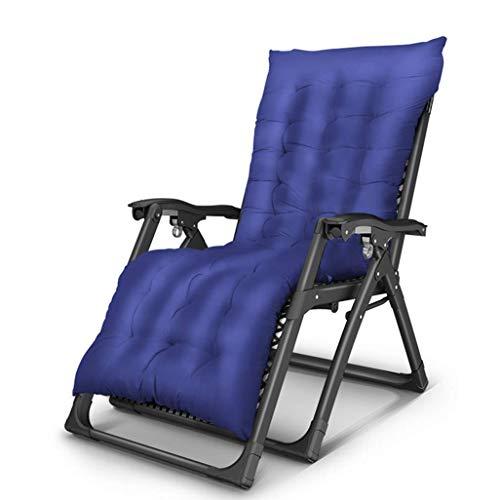 WYJW Zwaartekracht Ligstoel ligstoel, opklapbare relaxstoel, met ademend matras, Textoline ligstoelen, ligstoel voor strand, terras, tuin, camping in blauw