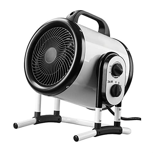 LSHAN Calefactor de Invernadero, Estufa por Infrarrojos, Calefactor de Patio eléctrico para Exterior Interior, Modos de Calentamiento Ajustables, 3000W Radiador de pequeña Industria, Impermeable