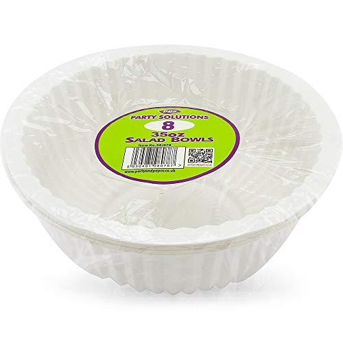 Party and Paper Solutions White Disposable Serving Bowls - Pack of 8