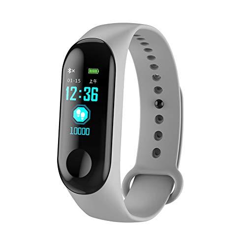 Monitor de Ritmo cardíaco con Monitor de Actividad, M3 Reloj Inteligente Presión Arterial Monitor de Ritmo cardíaco Fitness Pulsera Deportiva Pulsera.