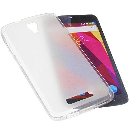 foto-kontor Tasche für ZTE Blade L5 Plus Gummi TPU Schutz Handytasche transparent weiß