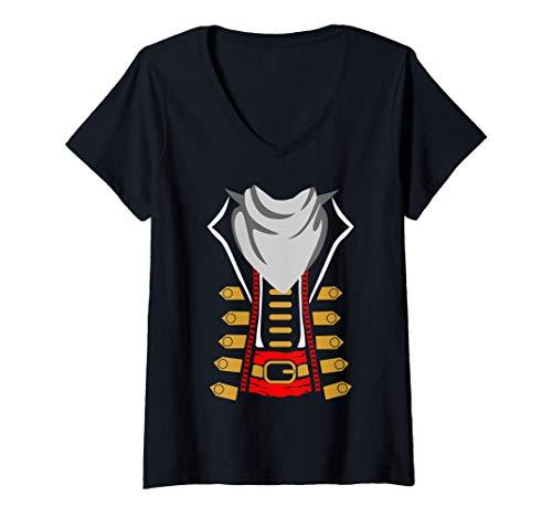 Mujer La idea del disfraz de pirata de la fiesta de Halloween de l Camiseta Cuello V