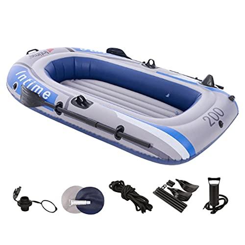 lencyotool 2-3 Personas Barca Hinchable Kayak Hinchable Bomba De Aire Kayak Bote A La Deriva Bote Inflable Bote De Pesca con Paleta De Cuerda De Bomba De Aire